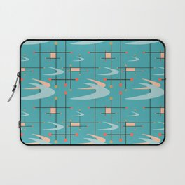 Mid Century Modern in Turquoise Laptop Sleeve