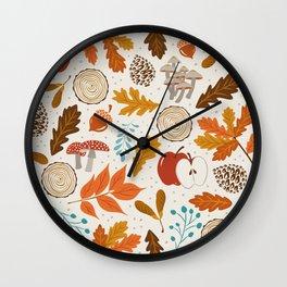 Autumn Woods Wall Clock