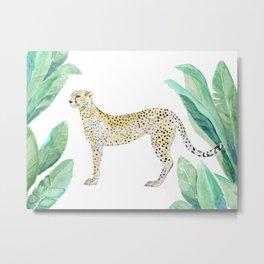 Cheetah in Jungle Metal Print