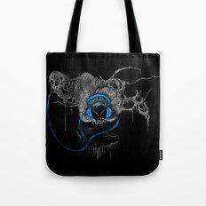 Blue Headphones Tote Bag