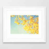 golden Framed Art Prints featuring golden by Life Through the Lens