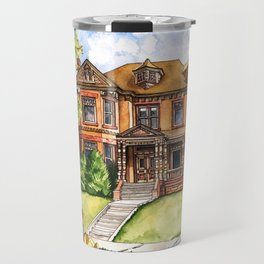 Victorian Mansion in the Spring Travel Mug
