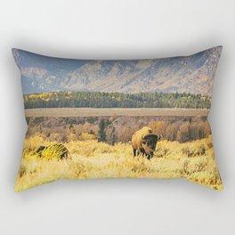 Wild Buffalo Rectangular Pillow