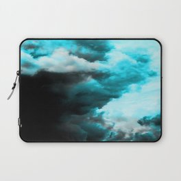 Relaxed - Cloudy Abstract In Blue And Black Laptop Sleeve