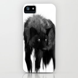 black dog iPhone Case