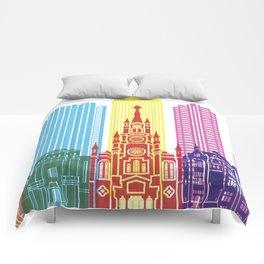 Medellin skyline pop Comforters
