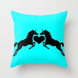 Unicorns in Love Throw Pillow