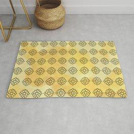 Geometrical Yellow Rug