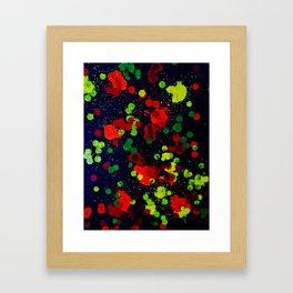 color Splots Framed Art Print