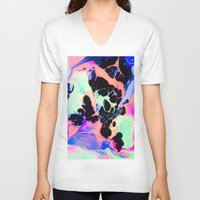 t rex V-neck T-shirts featuring T REX by blair__berger