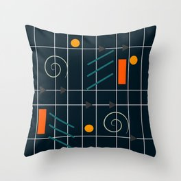Minimal geometric game Throw Pillow