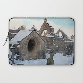 snow covered ruined church Laptop Sleeve