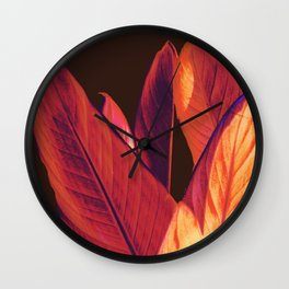 leaves Wall Clock