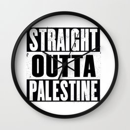 Straight outt Palestine Wall Clock