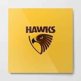HAWKS AFL Metal Print