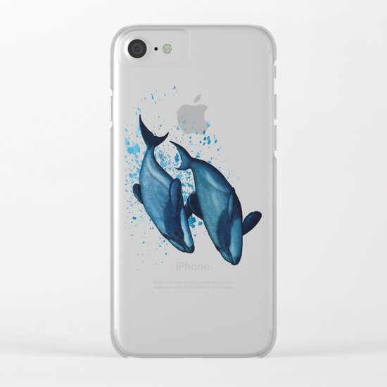 """""""Maui's Magic"""" by Amber Marine ~ (Maui's Dolphins) Watercolor Painting, (c) 2016 Clear iPhone Case"""