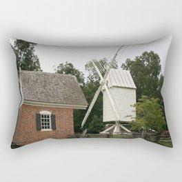 White Windmill - Colonial Williamsburg Rectangular Pillow
