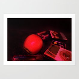 Apple and Cassettes Art Print