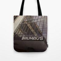 bauhaus Tote Bags featuring Bauhaus by Nat Alonso