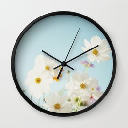 Garden of flowers. Wall Clock