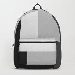 Carson Abstract Geometric Print in Black and White Backpack