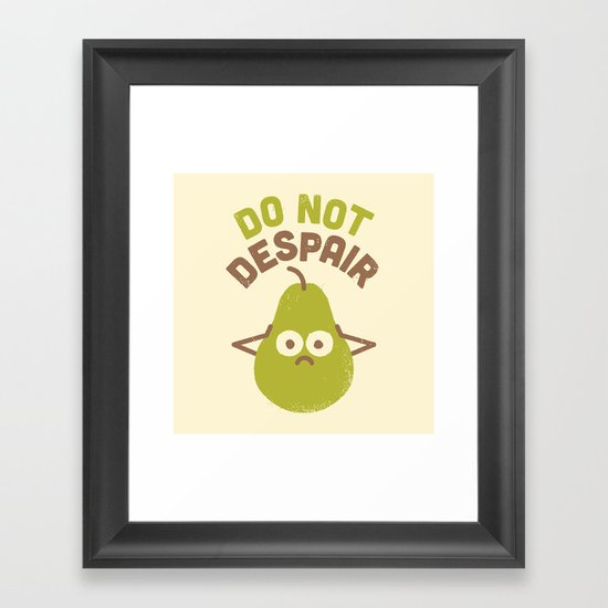 A Fruitful Admonition Framed Art Print