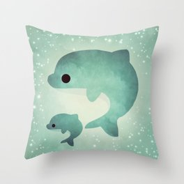 dolphin 597 Throw Pillow