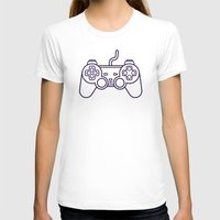 playstation T-shirts featuring Playstation 1 Controller - Retro Style! by Rikard Röhr