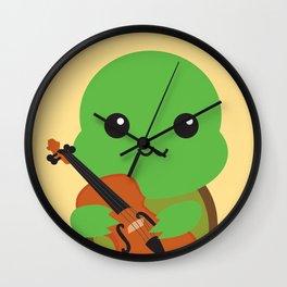 Violinist Turtle Wall Clock