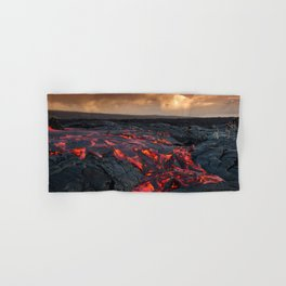 Kamukona (61g) Lava on the Big Island, Hawaii Hand & Bath Towel