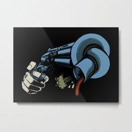 The Crooked Gun Metal Print