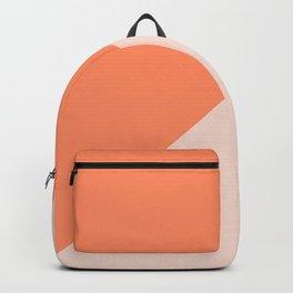 Bright Orange & Nude pink - oblique Backpack