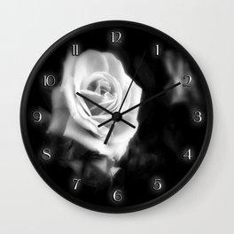 Pink Roses in Anzures 1 Dark Wall Clock