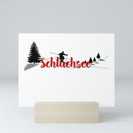 Ski at Schluchsee Mini Art Print