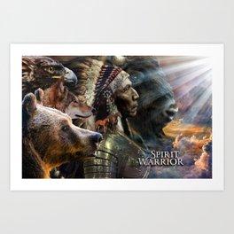 Spirit Warrior - David Munoz Art Art Print