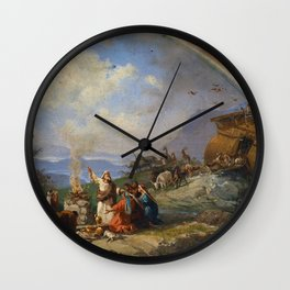 Noah gives Thanks for Deliverance by Domenico Morelli (1901) Wall Clock