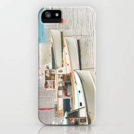 Lobster Boats In Bass Harbor Mount Desert Island Maine  iPhone Case