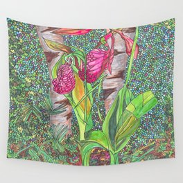 Lady Slippers Wall Tapestry