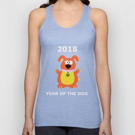 year of The Dog 2018 Happy Chinese New year dogs T-shirt Tee Unisex Tank Top