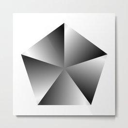 Metal Pentagon Metal Print