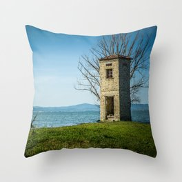 Tower on the sea Throw Pillow