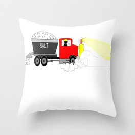 Winter Snowplow Keeping Up With The Status Snow Throw Pillow