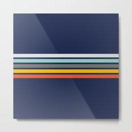 Abstract Minimal Retro Stripes 70s Style - Takakage Metal Print