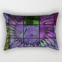 Purple stained glass Rectangular Pillow