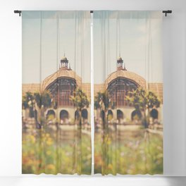 all the colours & curves of the botanical building in Balboa Park, San Diego Blackout Curtain