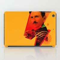 tesla iPad Cases featuring Tesla by Chincol