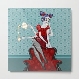 Little Miss Muffet Metal Print