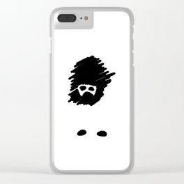 Missing Girl Clear iPhone Case