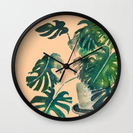 Houseplants: Philodendron Wall Clock