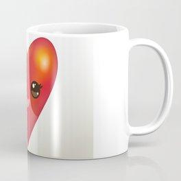 Valentine's Day Card with Kawaii red heart Coffee Mug